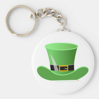 Irish Leprechaun Hat Lucky St. Patrick's Day Basic Round Button Key Ring