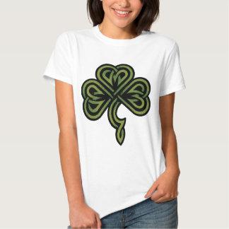 Irish Shamrock Ladies T Shirt