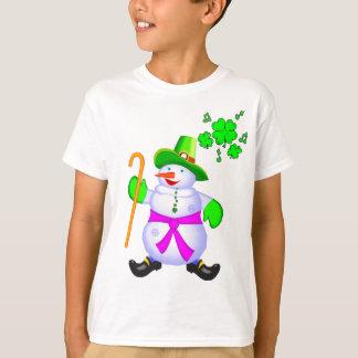 Irish Snowman-Girl, Boy,T Shirt Top Christmas