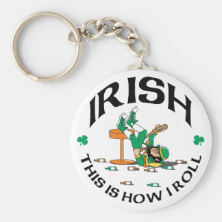 Irish This Is How I Roll Gift Basic Round Button Key Ring