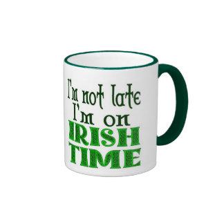 Irish Time Late Saying Ringer Mug