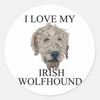 Irish Wolfhound Love! Round Sticker