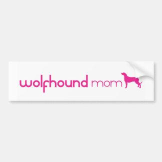 Irish Wolfhound Mom Bumper Sticker