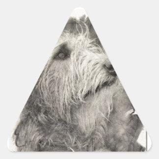 Irish Wolfhound perfect pose Triangle Sticker