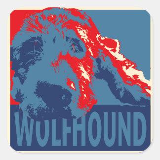 Irish Wolfhound Square Sticker