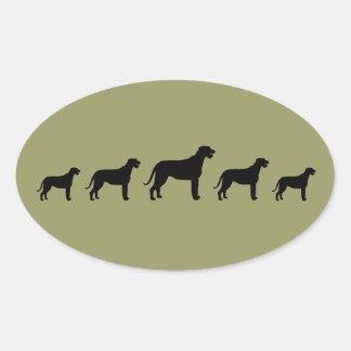 Irish Wolfhounds Oval Sticker