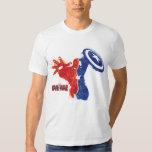 Iron Man And Captain America Split Silhouette Shirts