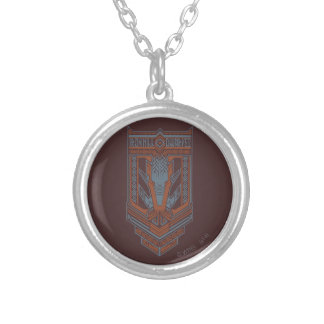Ironhill Dwarves Shield Icon Round Pendant Necklace