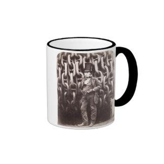 Isambard Kingdom Brunel, standing in front of the Ringer Mug