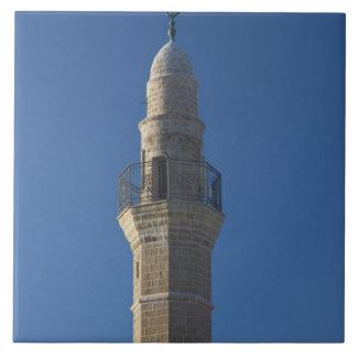 Israel, Tel Aviv, Jaffa, mosque minaret Large Square Tile
