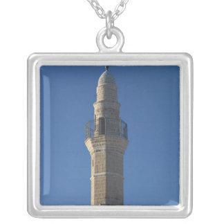 Israel, Tel Aviv, Jaffa, mosque minaret Square Pendant Necklace