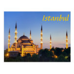 Istanbul - Blue Mosque at twilight Postcard