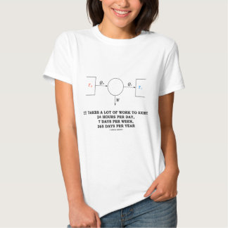It Takes A Lot Of Work To Exist (Thermodynamics) Tee Shirt