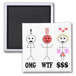 It Was On Sale!!! Square Magnet