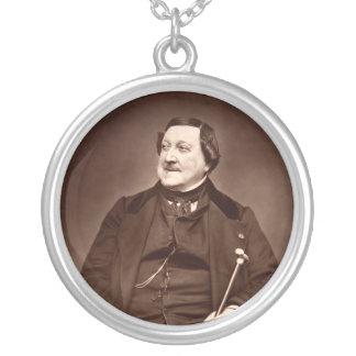 Italian Composer Gioachino Antonio Rossini Round Pendant Necklace