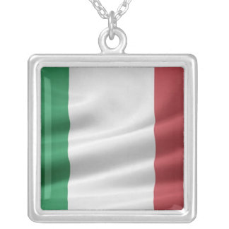 Italian Flag Necklace