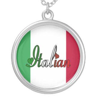 Italian Round Pendant Necklace