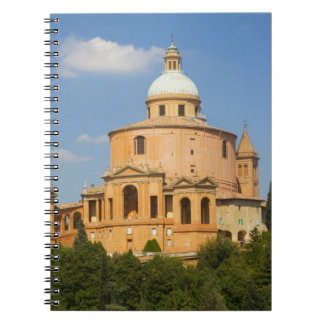 Italy, Bologna, Sunny Day with Portico di San Spiral Notebook
