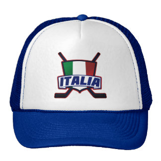 Italy Hockey su Ghiaccio Adjustable Hat Cap