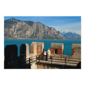 Italy, Malcesine, view from castle tower of Photo