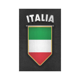 Italy Pennant with high quality leather look Canvas Prints
