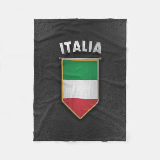 Italy Pennant with high quality leather look Fleece Blanket
