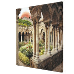 Italy, Sicily, Palermo. The cloisters survive as Stretched Canvas Prints