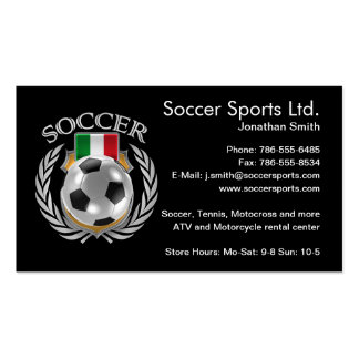 Italy Soccer 2016 Fan Gear Pack Of Standard Business Cards
