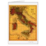 ItalyPanoramic MapItaly Greeting Card