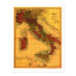 ItalyPanoramic MapItaly Postcard
