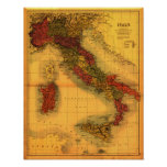 ItalyPanoramic MapItaly Poster
