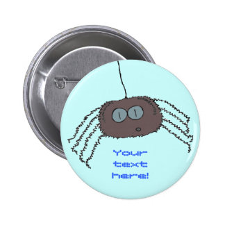 Itchy spider 6 cm round badge