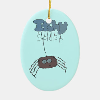 Itchy spider ceramic oval decoration