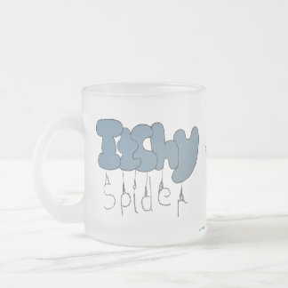 Itchy spider frosted glass mug