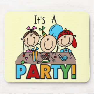 It's a Birthday Party T-shirts and Gifts Mouse Pad