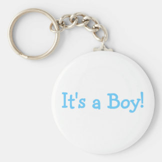 Its A Boy (Blue) Basic Round Button Key Ring