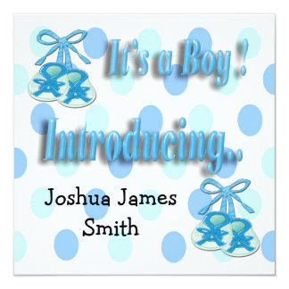 It's a Boy Booties Birth Announcement