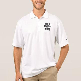 its a melton thing polo shirts