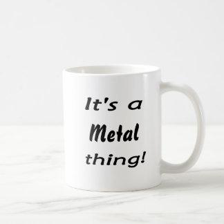 It's a metal thing! basic white mug