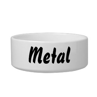 It's a metal thing! cat food bowls
