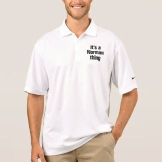 its a norman thing polo shirts