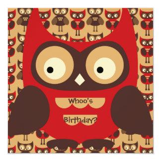 It's Autumn Hoot Owl Birthday Invitation
