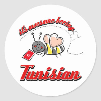It's awesome beeing Tunisian Round Sticker