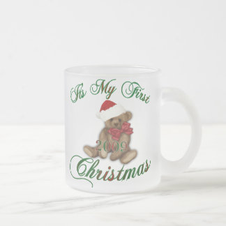 Its My 1st Christmas Frosted Glass Mug