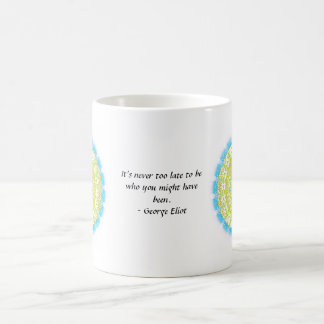It's never too late to be who you might have been basic white mug