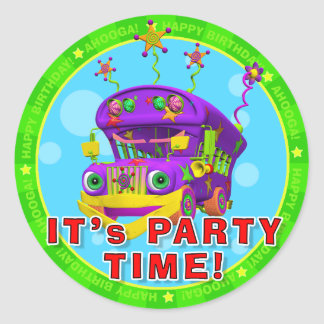 It's Party Time! Birthday Stickers with Buster