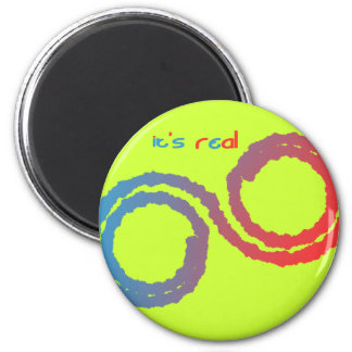 it's real 6 cm round magnet