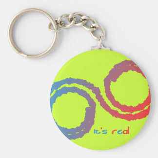 it's real basic round button key ring