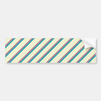 Ivory Purple Teal Stripes Bumper Sticker