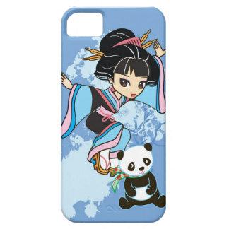 Izumi the Cartoon Kawaii Geisha Chibi Girl & Panda iPhone 5 Cover